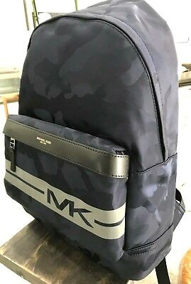 1ebdf513757054 Michael Kors Mens Kent Tech Nylon Army Camo Backpack Bookbag Bag Indigo Blue