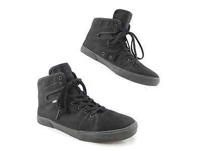 5a824ca949 Vans Womens Size 7.5 Hadley Black High Tops Lace Up Sneakers Skate Shoes