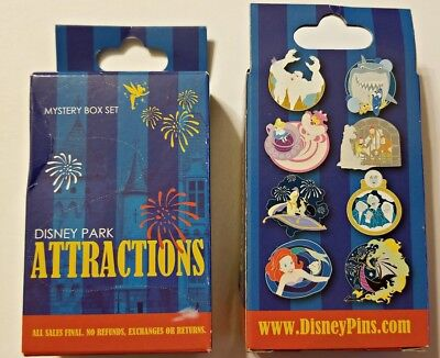 Collectible Pin Pack DISNEY PARK ATTRACTIONS Mystery Box of 2 Pins Sealed NEW