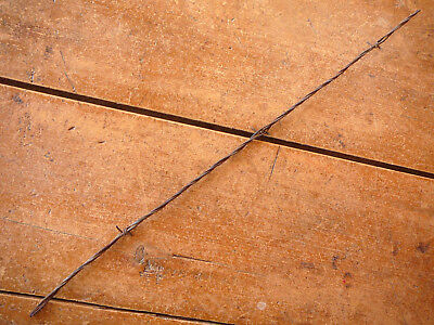 GLIDDENS BARB on THREE LINES - FLAT  & 2 Sizes of ROUND -  ANTIQUE BARBED WIRE