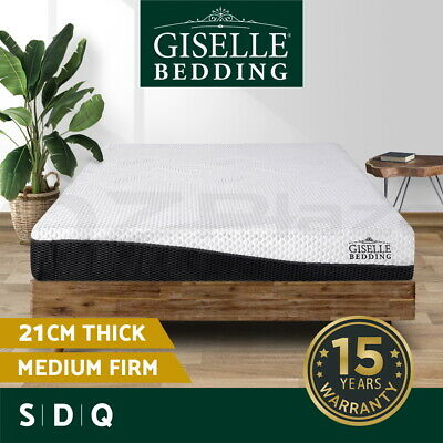 Giselle Bedding Gel Memory Foam Mattress Queen Double Single Bed No Spring