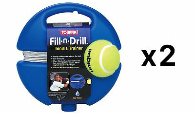Tourna Fill n Drill Trainer Youth Tennis Practice Kids Aid Youth Tool (2-Pack)