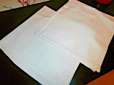 Pair Of Vintage White Cotton Damask Large Table Napkins 20 Sq - Picture-table-by-ivydesign