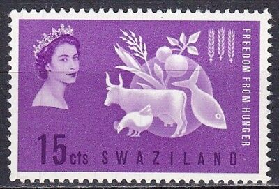 """Swaziland #108 Mnh """"freedom From Hunger"""" Campaign"""
