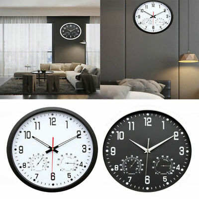 35cm  Extra Large Round Wooden Wall Clock Vintage Retro Antique Distressed Style