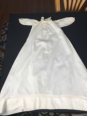 Antique/Vintage 1900'S Era Ivory/Off White Baby Christening Gown With Tucking