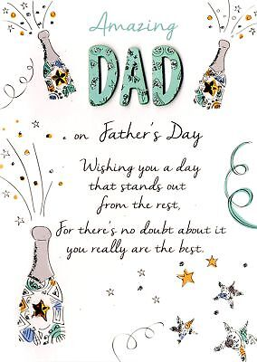 Amazing Dad Father's Day Card Just To Say Embellished Greeting Cards