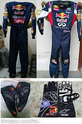 RED BULL Go Kart Race Suit CIK FIA Level 2 Approved Shoes with free gift Gloves