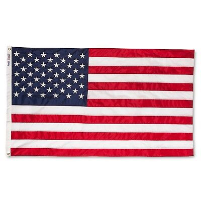 ANNIN® Made inUSA Nyl-Glo® 3'x5' Colorfast American Flag & RESPECT OUR FLAG BOOK