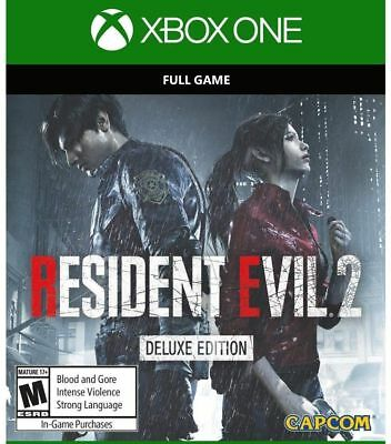 RESIDENT EVIL 2 Deluxe Edition Xbox one (Download, Read description)