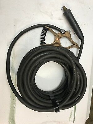 100 Foot 1//0 Welding Cable Lead with Ground Clamp /& Lug