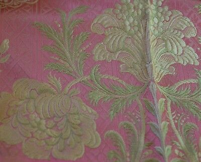 Vintage Antique French Silk Brocade Uu200
