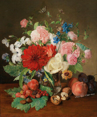 Art Giclee Print Flower Fruit Still Life Oil painting Hd Printed on Canvas P957
