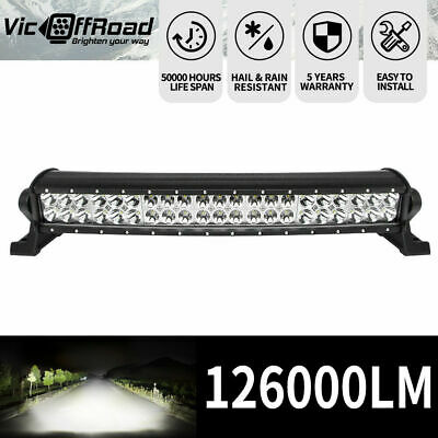 """LED Light Bar 20inch Cree Spot Beam Driving Offroad 4WD Truck SUV 20"""" Dual Row"""