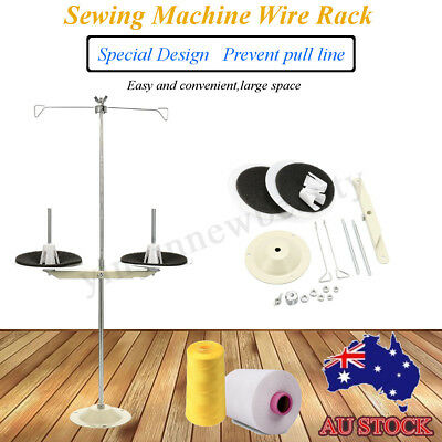 1pcs ALL METAL 2 SPOOL THREAD STAND SEWING MACHINE PART INDUSTRIAL