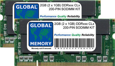 2X1GB Micron 2GB KIT PC3200S DDR 400 200 PIN CL3 Memory For DELL Inspiron 9100