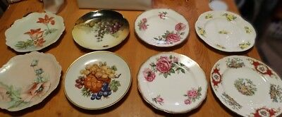 "Lot of 8 bone china plates, two 8"", six 7.5"", used, good condition"