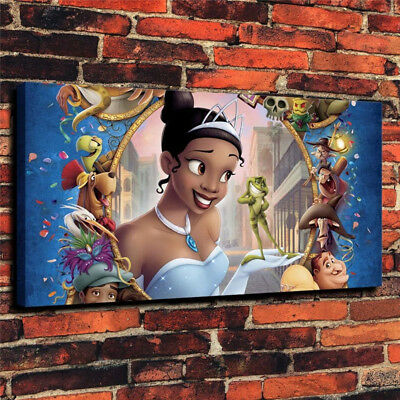 The Princess and Frog Wall Art Print Home Deco Oil Painting on Canvas Unframed