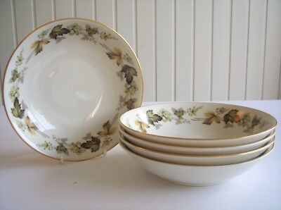 Royal Doulton - Larchmont - 5 x Soup, Dessert or Cereal Bowls - LIGHTLY USED