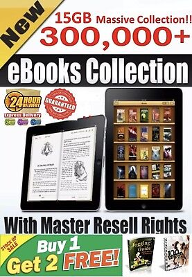 302,000 E Books  Collection with Master Resell Right PDF 17 GB Package + Bonus