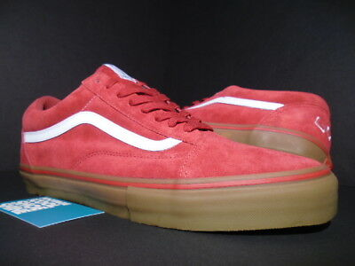 754428bee5d7 Vans Old Skool Pro S Golf Wang Odd Future Syndicate Red Gum White Vn-0Qhm8Ll