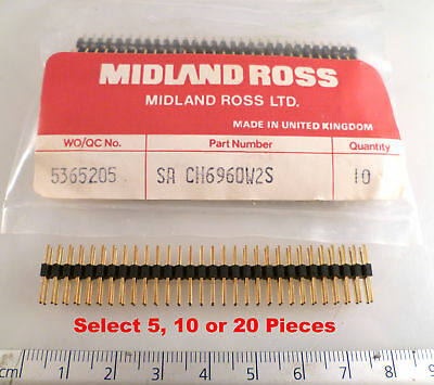 Midland Ross CH6960W2S Easy Snap 60 Pin DIL Header Plug Gold 2.54mm MBF006n