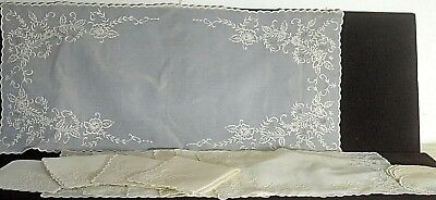 Vintage Embroidered Jusi Placemats Embroidered Doilies Napkins & Runner Uu215