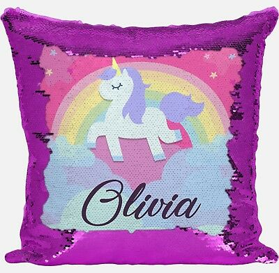 Personalised Shrek Any Name Magic Reveal Pink Sequin Cushion Cover Gift 1