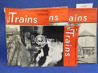 Trains Magazine Complete Year 1950 12 issues