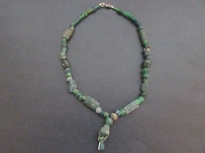 NILE Ancient Egyptian Roman Period Amulet Mummy Bead Necklace ca 100 BC
