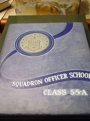 US Air Force Squadron Officer's School Yearbook issued 1955 Maxwell AFB Alabama