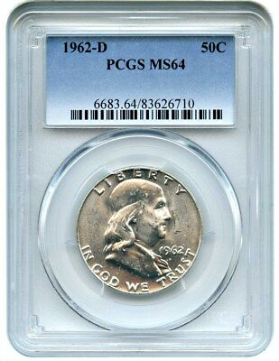 1962-D 50c PCGS MS64 - Franklin Half Dollar