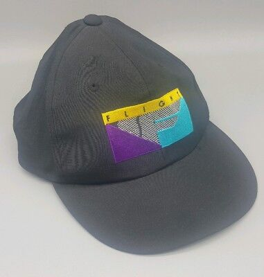 8ab373e5600 Vintage NIKE FLIGHT SNAPBACK HAT Cap 90s Air Jordan Black Nylon MINT