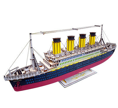 3960a8c9 3D PUZZLES TITANIC Ship Building Paper Model Creative Educational ...