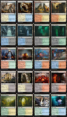80 GUILDGATE GATE Dual Land ~mtg NM-M 4ea Art Guilds of Ravnica Allegiance