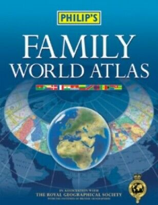 Philip's Family World Atlas by Philips Hardback Book The Cheap Fast Free Post