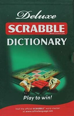 Collins Scrabble Dictionary: Deluxe edition Hardback Book The Cheap Fast Free