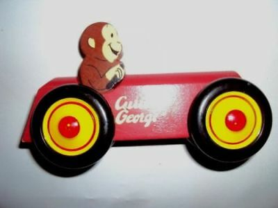 Curious George Wood Car ~ Red/Yellow/Black~ Schylling N. Andover  MA Lot#A102