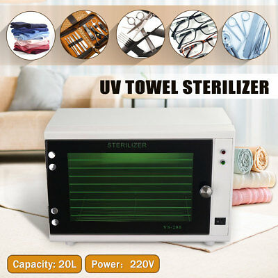 UV Towel Tool Sterilizer Warmer Cabinet Spa Facial Disinfection Salon Beauty 20L