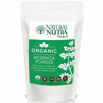 Organic Moringa Powder by Natural Nutra – 8oz, 75 servings – Superfood Dieta