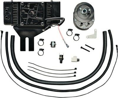 Jagg Lowmount Fan-Assisted 10-Row Oil Cooler System Harley Davidson Dyna
