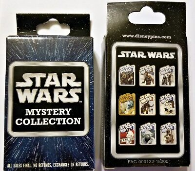 Disney Collectible Pin Pack STAR WARS Mystery Box of 2 Pins Sealed NEW