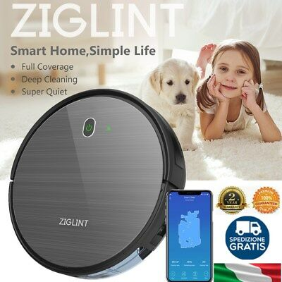 Ziglint D5 Alexa&Google Home Aspirapolvere Smart Vacuum Cleaner Robot 1800PA TOP