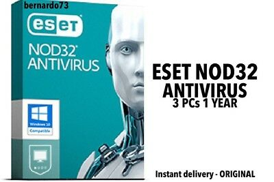 ESET NOD32 Antivirus 2019 3 PCs , 1 Anno, GLOBAL, ESD Antivirus