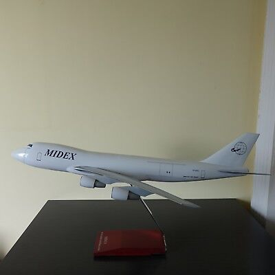 Huge 1/100 Boeing B747-200 Cargo Midex Airlines Airplane Model Brand New in Box