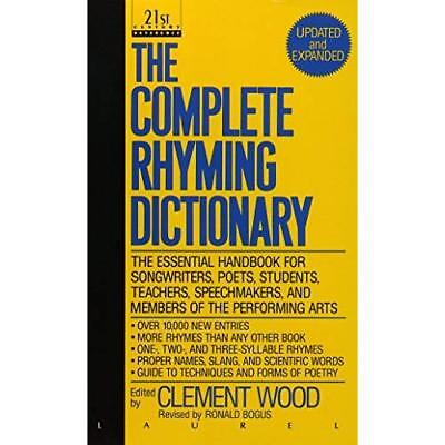 Complete Rhyming Dictionary - Mass Market Paperback NEW Dell 1992-04
