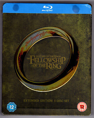 Lord Of The Rings 1 Extended 5-Disc Blu-Ray Steelbook Neu & Ovp Herr Der Ringe