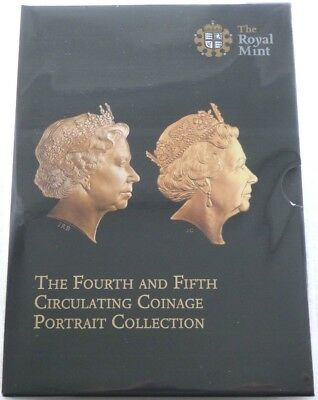 2015 Royal Mint Fourth and Fifth Portrait Definitive BU 16 Coin Set Sealed