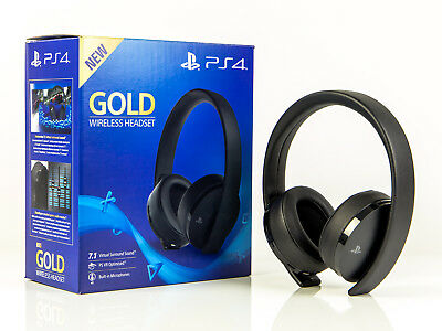 Sony PS4 - Headset - GOLD WIRELESS HEADSET 7.1 Virtual Sound - Playstation 4