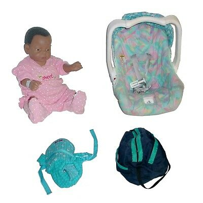 Realityworks Baby Think It Over G5 African American Female w/Car Seat & Bag